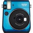 富士フィルム インスタントカメラ instax mini 70 『チェキ』 ブルー チェキMINI70BLUE(送料無料)
