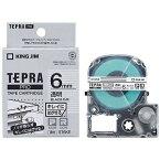 キングジム テプラ(TEPRA) キレイにはがせるラベル(透明テープ/黒文字/6mm幅) ST6KE