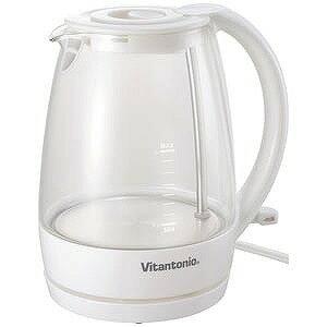 ビタントニオ ガラスケトル (容量:1.0L)  VEK‐600‐W/ホワイト系(送料無料)
