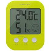 ドリテック デジタル温湿度計「オプシス」 O‐230GN (グリーン)