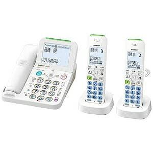 シャープ デジタルコードレス電話機 (子機2台) JD‐AT85CW (ホワイト系)
