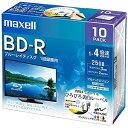 マクセル 録画用 BD−R 1−4倍速 25GB 10枚「インクジェットプリンタ対応」 BRV25W ...