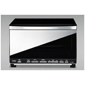 ツインバード ミラーガラスオーブントースター(1200W) TS‐D057B (ブラック)