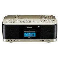 東芝 CDラジカセ(ラジオ+SD+USBメモリー+CD+カセットテープ) TY‐CDX9(N)サテンゴールド