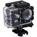 コジマ楽天市場店で買える「SAC マイクロSD対応 防水ハウジングケース付きアクションカメラ AC600(ブラック)」の画像です。価格は9,980円になります。