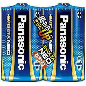 パナソニック 「単1形」2本 アルカリ乾電池 「エボルタネオ」  LR20NJ/2SE