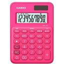 コジマ楽天市場店で買える「CASIO カラフル電卓(10桁)  MW−C8C−RD−N ビビッドピンク」の画像です。価格は648円になります。
