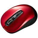 サンワサプライ 無線BlueLEDマウス[Bluetooth 3.0] MA−BTBL29R(3ボタン・レッド)