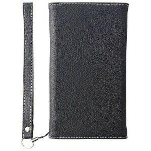 iPhone X用 BillFold クラリーノ フリップノートカードケース シュリンク TRIP178BFTTSBK ブラック