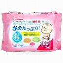 KIDS&MAMA 水分たっぷり純水99%赤ちゃんのおしりふき 厚手80枚6P ピンク