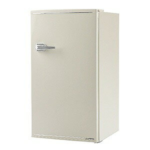 エスキュービズム 1ドア冷蔵庫(85L・右開きタイプ) WRD−1085−W レトロホワイト(標準設置無料)