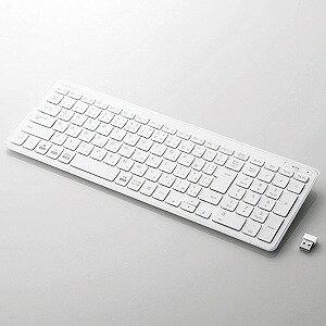エレコム ワイヤレスコンパクトキーボード/パンタグラフ式/ホワイト TK−FDP099TWH