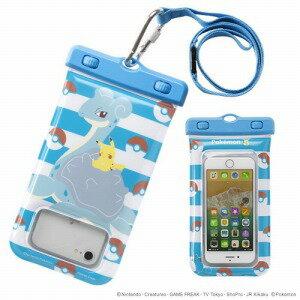 HAMEE スマートフォン用 ポケットモンスター/ポケモン DIVAID フローティング防水ケース 566−844809 ピカチュウ&ラプラス