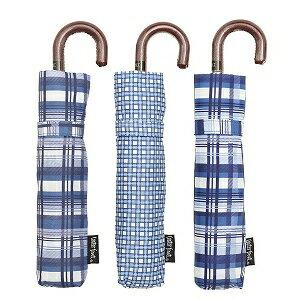 ウォーターフロント 「折りたたみ傘」レディース折傘 軽量ペン細 タータンブルー 50cm TTBL3F50UH 「色指定不可」