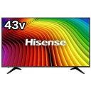 ハイセンス 43V型 4K対応液晶テレビ 43A6100(標準設置無料)