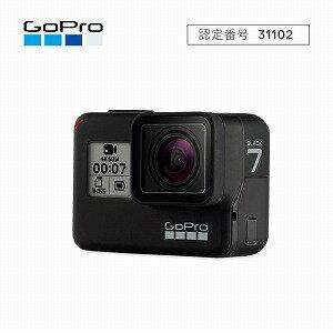 GOPRO マイクロSD対応 4Kムービー ウェアラブルカメラ GoPro HERO7 CHDHX−701−FW ブラック