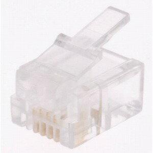 オーム電機 6極4芯用モジュラープラグ(有線・2個入) TP−1920
