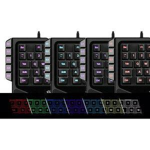 AREA有線ゲーミングキーボード片手用AS−K2ブラック