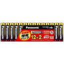 パナソニック 「単4形乾電池」アルカリ乾電池 12+2本パック(限定増...