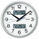 セイコー 電波掛け時計「ネクスタイム」 ZS251S銀色メタリック