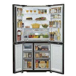AQUA 4ドア冷蔵庫(512L・フレンチドア) AQR−TZ51H(T) ダークウッドブ (標準設置無料)