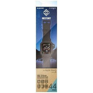 エレコム Apple Watch 44mm NESTOUTバンドケース ブラック AW−44BCNESTBK