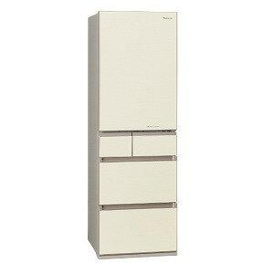 パナソニック 5ドア冷蔵庫(450L・左開き) NR−E454PXL−N シャンパンゴールド (標準設置無料)
