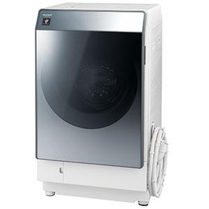 シャープ ドラム式洗濯乾燥機 [洗濯11.0kg/乾燥6.0kg/ヒートポンプ乾燥/左開き] ES−W112−SL シルバー系(標準設置無料)