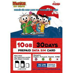日本通信 ナノSIM ソフトバンク回線「MonicaSIM 10GB/30Days Prepaid」 NS−MS10G30D−MO画像