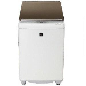 シャープ SHARP 縦型洗濯乾燥機 [洗濯10kg/乾燥5kg/ヒーター乾燥き]ES−PW10E−T ブラウン系(標準設置無料)
