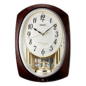 セイコー SEIKO からくり時計 【ウェーブシンフォニー】 AM265B 濃茶マーブル模様