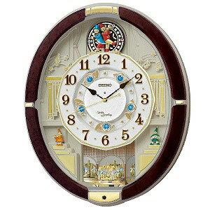 セイコー SEIKO からくり時計 【ウェーブシンフォニー】RE581B 濃茶マーブル模様