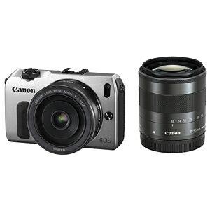 日本全国送料無料!更に代引き手数料無料!Canon ミラーレスカメラ「EOS M」ダブルレンズキッ...