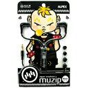 アルペックス ジッパーコードイヤフォン 「muzip」 AHP‐118BK (ブラック)