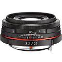 リコー 交換レンズ HD PENTAX‐DA 21mm F3.2AL Limited (ブラック)(送料無料)