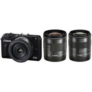 日本全国送料無料!更に代引き手数料無料!Canon ミラーレスカメラ「EOS M2」トリプルレンズキ...