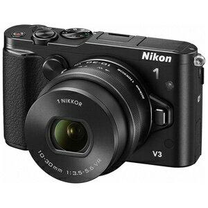 ニコン デジタル一眼カメラ「Nikon 1 V3」標準パワーズームレンズキット NIKON1V3HPLK(BK...