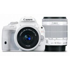 Canon 一眼レフカメラ「EOS Kiss X7」 EOS Kiss X7・ダブルレンズキット 2 <ホワイト...
