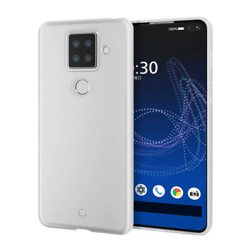 スマートフォン・携帯電話アクセサリー, ケース・カバー  ELECOM AQUOS sense4 plus PM-S207UCTCR