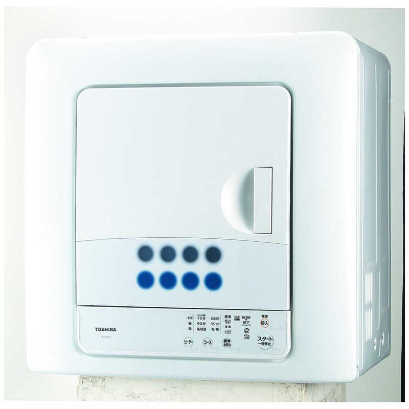 東芝 TOSHIBA 衣類乾燥機[乾燥容量4.5kg] ED-458-W ピュアホワイト(標準設置無料)
