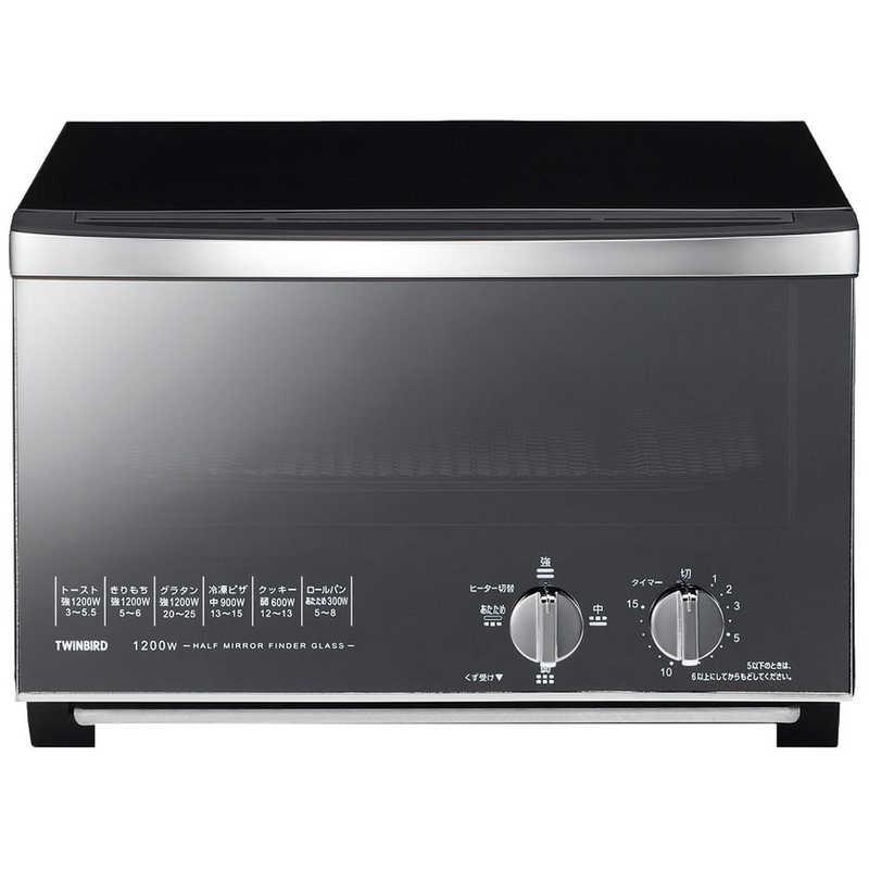 ツインバード TWINBIRD オーブントースター [1200W/食パン4枚] TSD048B