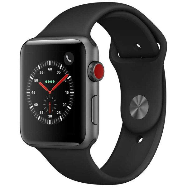アップルAppleWatchSeries3(GPS+Cellularモデル)- Series3/43mm/アルミニウム/スポーツ