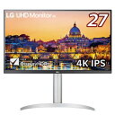LG UHD Monitor 4K ホワイト [27型/ワイド/4K(3840×2160)] 27UP650W