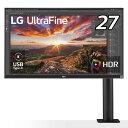 LG 27インチエルゴノミクススタンド4K液晶ディスプレイ ブラック 27UN880B