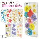 メール便送料無料【iPhone 6/iPhone 6S用押し花ケース】本物の花を使用 アイフォン シックス ……