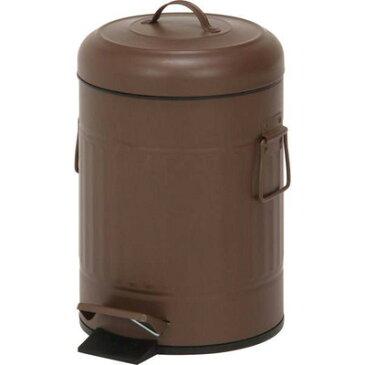 ゴミ箱 ごみ箱 ダストボックス キッチン リビング おしゃれ カフェ ブラウン 茶色 5リットル 5l ふた付き 蓋付きゴミ箱 蓋 つき 蓋付き ペダル オフィス トイレ