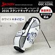 ダンロップ スリクソン スタンドキャディバッグ 2016年モデル GGC-S108L SRIXONホワイト×ネイビー Srixon 9.5型当店オリジナル 数量限定ネーム刻印サービス