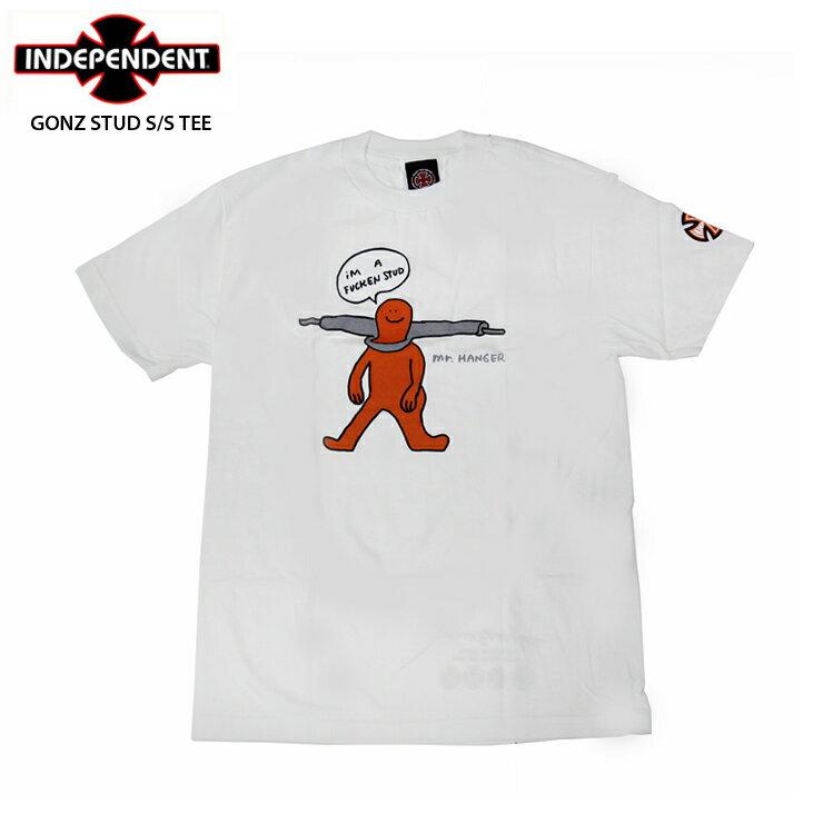 トップス, Tシャツ・カットソー INDEPENDENT T GONZ STUD SS TEE WHITE