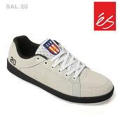 es/エス スケートシューズ スニーカー サル SAL 20 WHITE BLK サルバビア es20周年記念復刻モデル スケシュー スケボーシューズ スケートボード P06May16