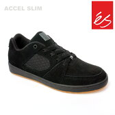 es/エス スケートシューズ スニーカー アクセル ACCEL SLIM BLK BLK GUM アクセル スリム スケシュー スケボーシューズ スケートボード P06May16